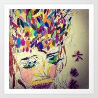 'Fragmented 7' Art Print