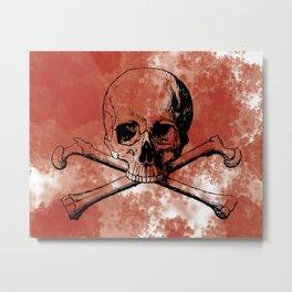 Bloody Skully Metal Print