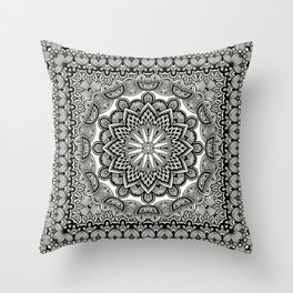 Orient Espresso Pattern Mandala Throw Pillow