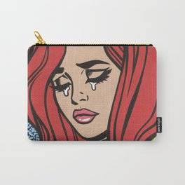 Sad Red Head Comic Girl Carry-All Pouch