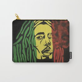 rasta man,vibration,jamaica,reggae,music,smoke,ganja,weed,pop art,portrait,wall mural,wall art,paint Carry-All Pouch