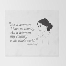 Virginia Woolf Feminist Quote Throw Blanket