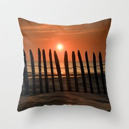 Sunset in the Lowlands Throw Pillow