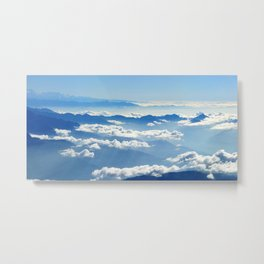 Mountains and Clouds in Nepal Metal Print
