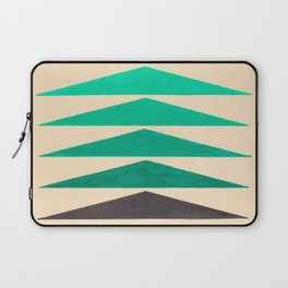 Colorful Turquoise Green Geometric Pattern with Black Accent Laptop Sleeve