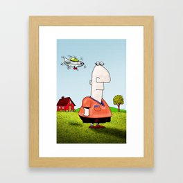 Little UFO Framed Art Print