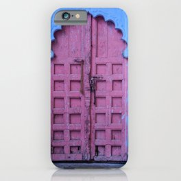 Pink Door In The Blue City, Jodhpur iPhone Case