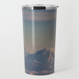 Three Mountain Peaks above the Clouds Travel Mug