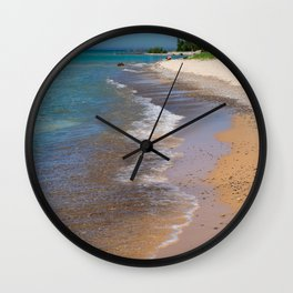 Lake_Michigan Beach, Charlevoix - III Wall Clock