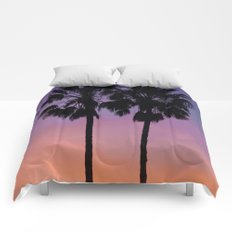 Purple Palms Comforters