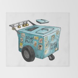 Paletero Ice Cream Cart Throw Blanket