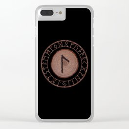 Laguz Elder Futhark Rune of the unconscious context of becoming or the evolutionary process Clear iPhone Case