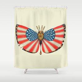 patriot moth (ORIGINAL SOLD). Shower Curtain