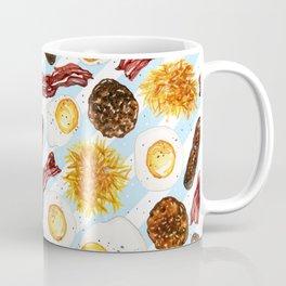 American Diner Breakfast on Blue Coffee Mug