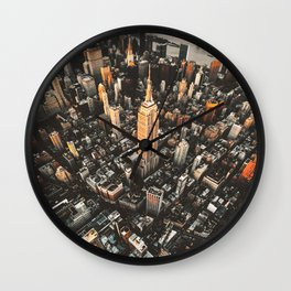 new york city aerial view Wall Clock