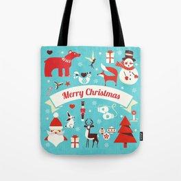 Christmas icons illustration Tote Bag
