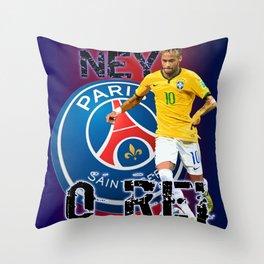 O REI NEYMAR Throw Pillow