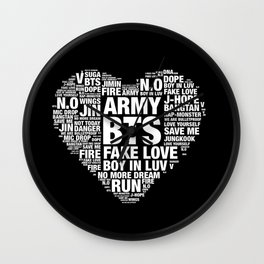 BTS ARMY Fan Art : Typography Wall Clock
