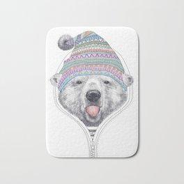 The Bear in a hood Bath Mat
