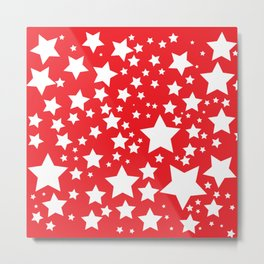 Red with white stars Metal Print