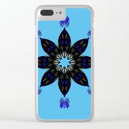 Ornament blueblack Clear iPhone Case