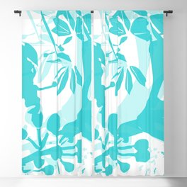 BC blue silhouette Blackout Curtain