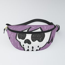 Purple Haired Skull Fanny Pack
