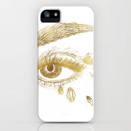 Fierce Eye - Gold iPhone Case