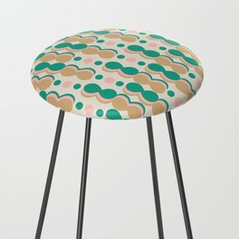 Uende Cactus - Geometric and bold retro shapes Counter Stool