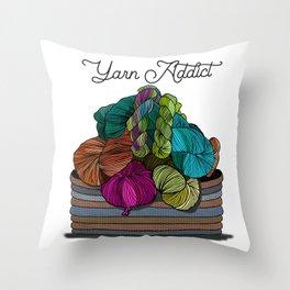 Yarn Addict  Throw Pillow