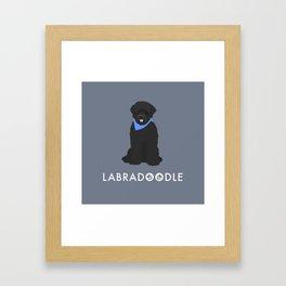 Labradoodle Black Framed Art Print