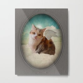 Little Angel Olive Metal Print