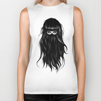 ruben Biker Tanks featuring It Girl by Ruben Ireland