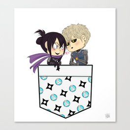 One Punch Man- Genos and Sonic Pocket Chibis Canvas Print