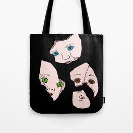 Broken Dolly Faces Tote Bag