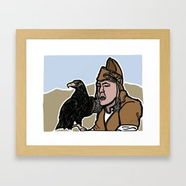 Mongolian Falconer Framed Art Print