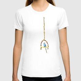 Parakeet Budgie on swing T-shirt