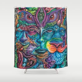 Reyes De La Jungla (Kings of the Jungle) By Tyler Aalbu Shower Curtain