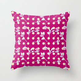 roses and dots Throw Pillow