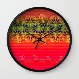 Playing With Stripes Wall Clock