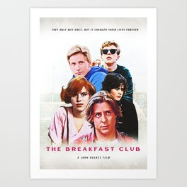 The Breakfast club Art Print