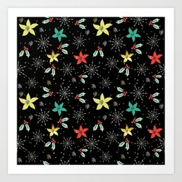 Cute Christmas Pattern Art Print