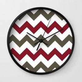 Mountain Fire Chevron Wall Clock