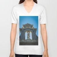 real madrid V-neck T-shirts featuring Almudena Cathedral, Madrid by Svetlana Korneliuk