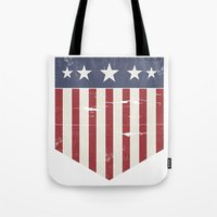 flag Tote Bags featuring Flag by Emma Harckham