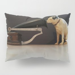 Nipper is listening-His Master's Voice Pillow Sham