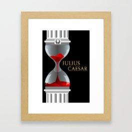 Julius Caesar Hourglass Framed Art Print