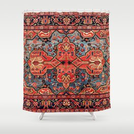 Kashan Poshti Central Persian Rug Print Shower Curtain
