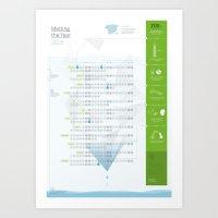 Bureau Oberhaeuser Calendar 2014 White Art Print