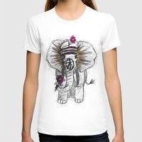 hippie T-shirts featuring Hippie Elephant by  Steve Wade (Swade)